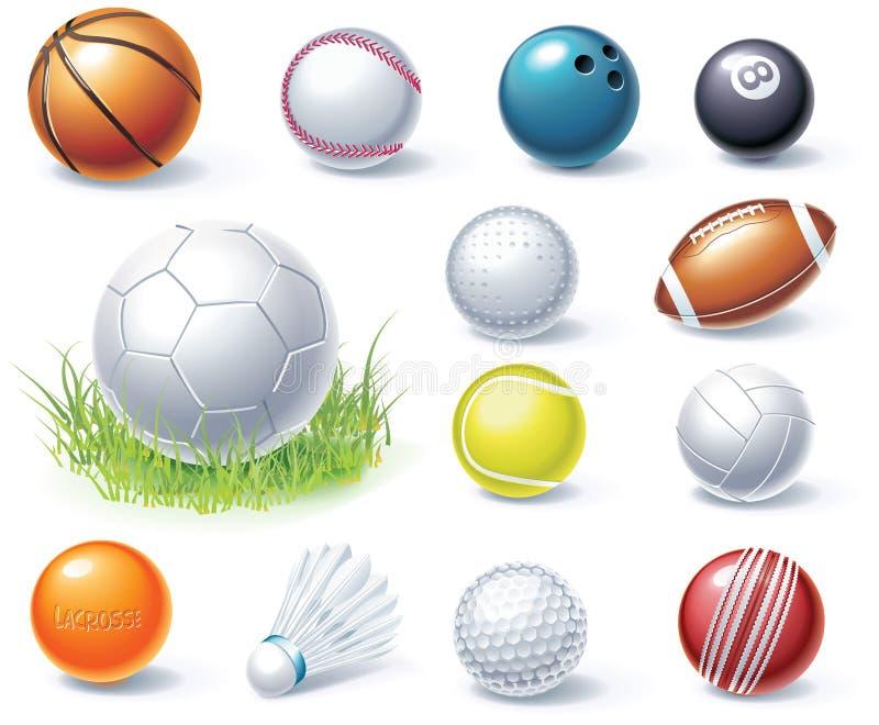 Vector sport equipment icons royalty free illustration