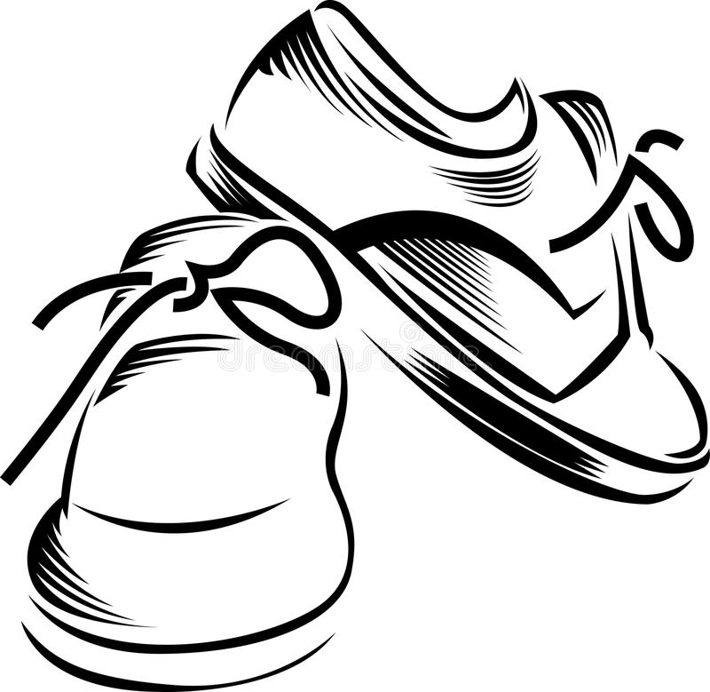 Vector sport shoes vector illustration