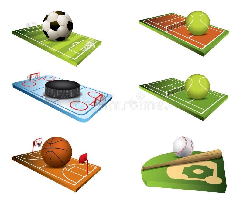 Vector sportgebieden vector illustratie