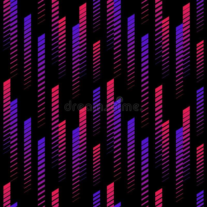 Vector sportief naadloos patroon met verticale langzaam verdwijnende lijnen Extreme sportieve stijl, stedelijk art. vector illustratie