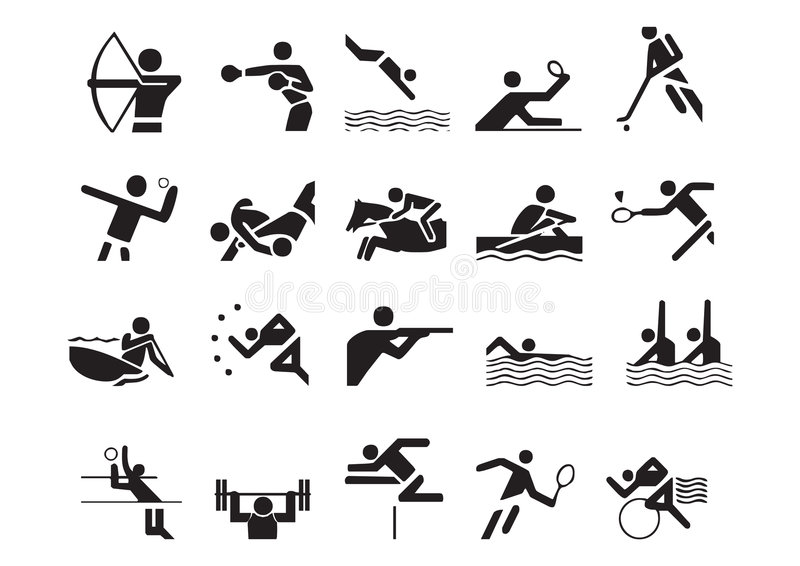 Vector Sports Symbols Stock Vector Illustration Of Colors 4513494