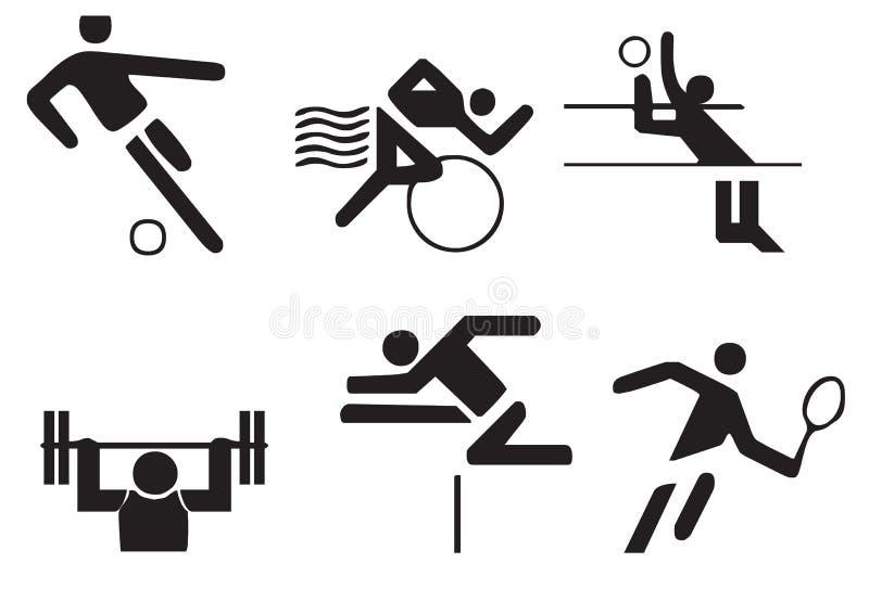 Vector sports symbols vector illustration