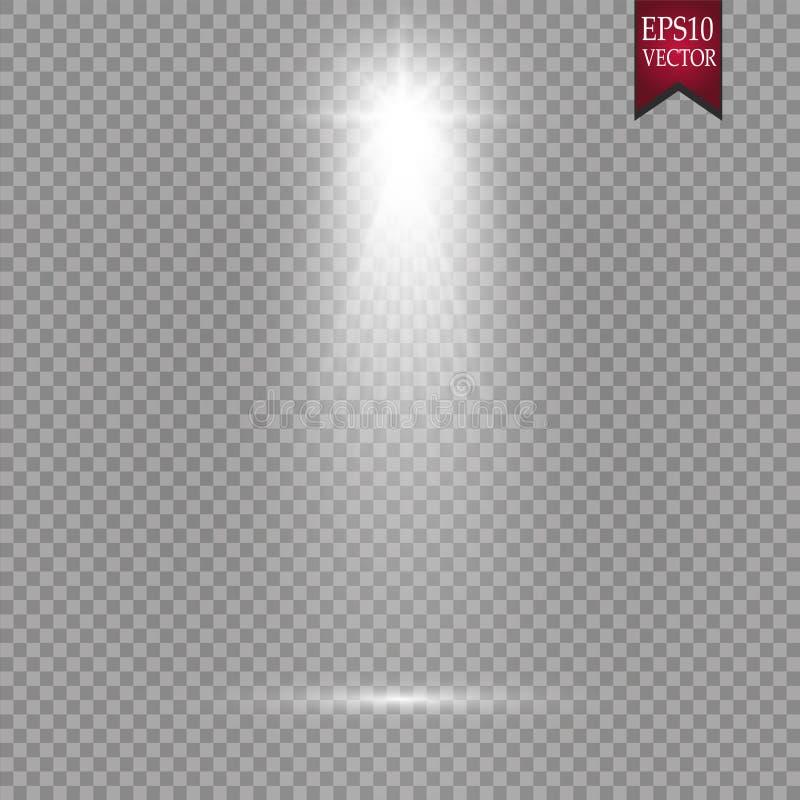 Vector Spotlights. Scene. Light Effects Magic concept royalty free illustration