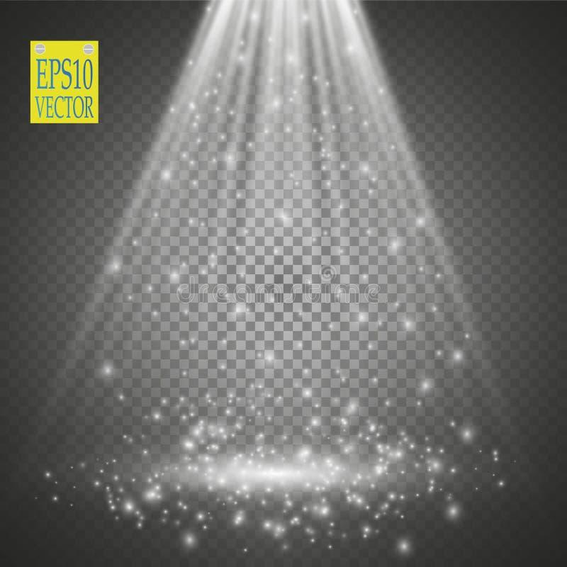 Vector Spotlights. Scene. Light Effects royalty free illustration