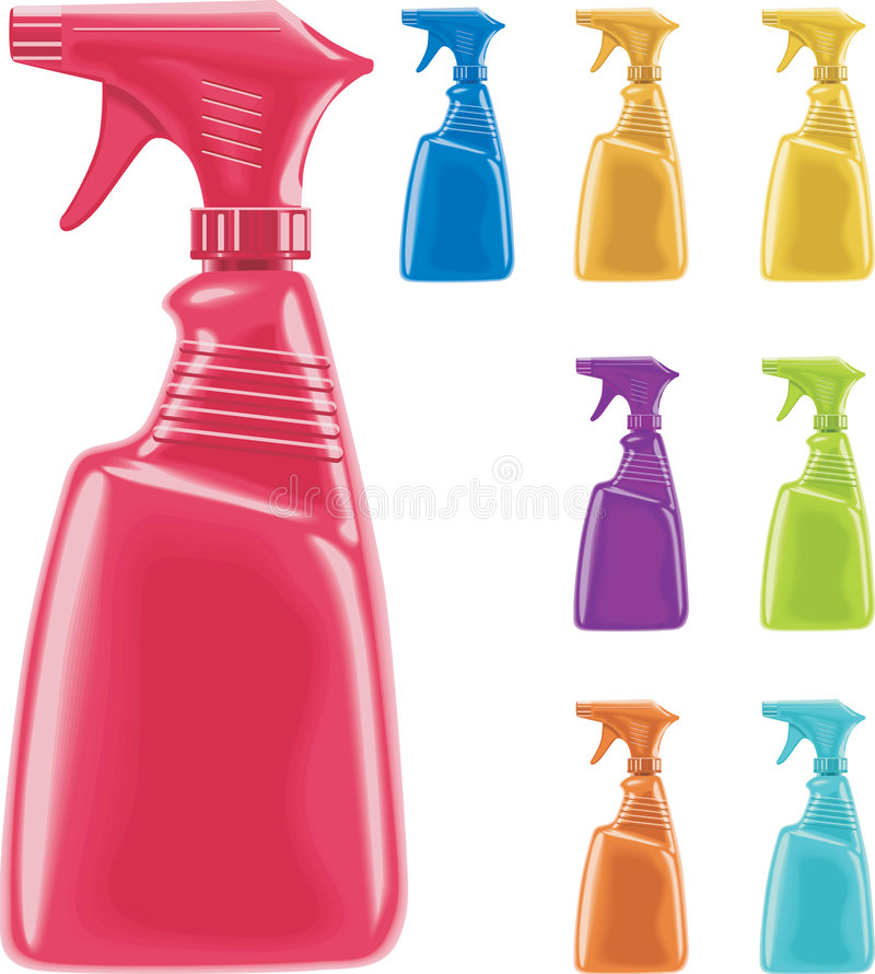 Download Vector sprayer bottles stock vector. Illustration of commercial - 7803197