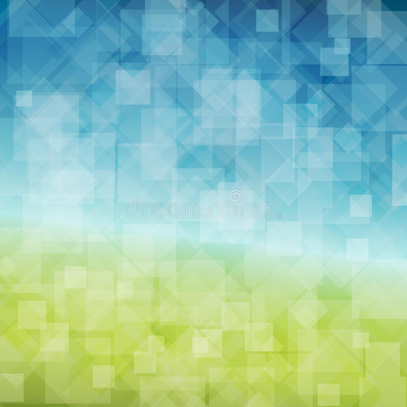 Vector Spring abstract background stock illustration