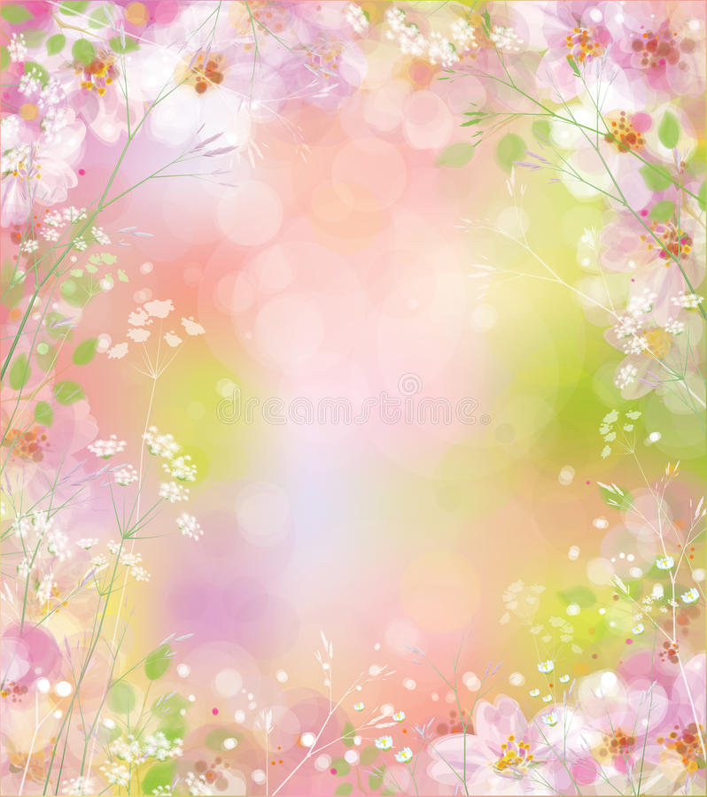 Vector spring background. royalty free illustration