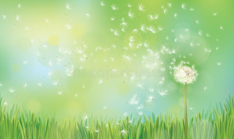 Vector spring nature background. royalty free illustration
