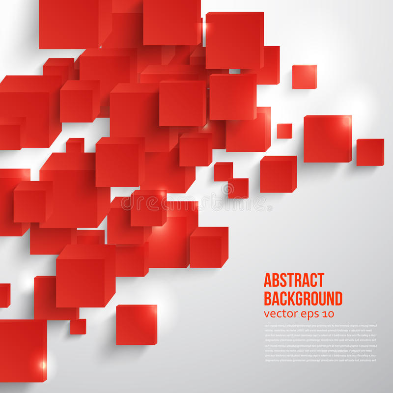 Free Vector Square. Abstract Background Card Red. Stock Photos - 38696623