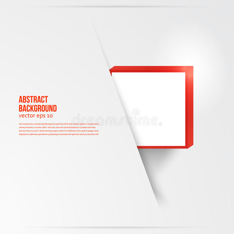Free Vector Square. Abstract Background Card Red. Royalty Free Stock Photography - 38728947