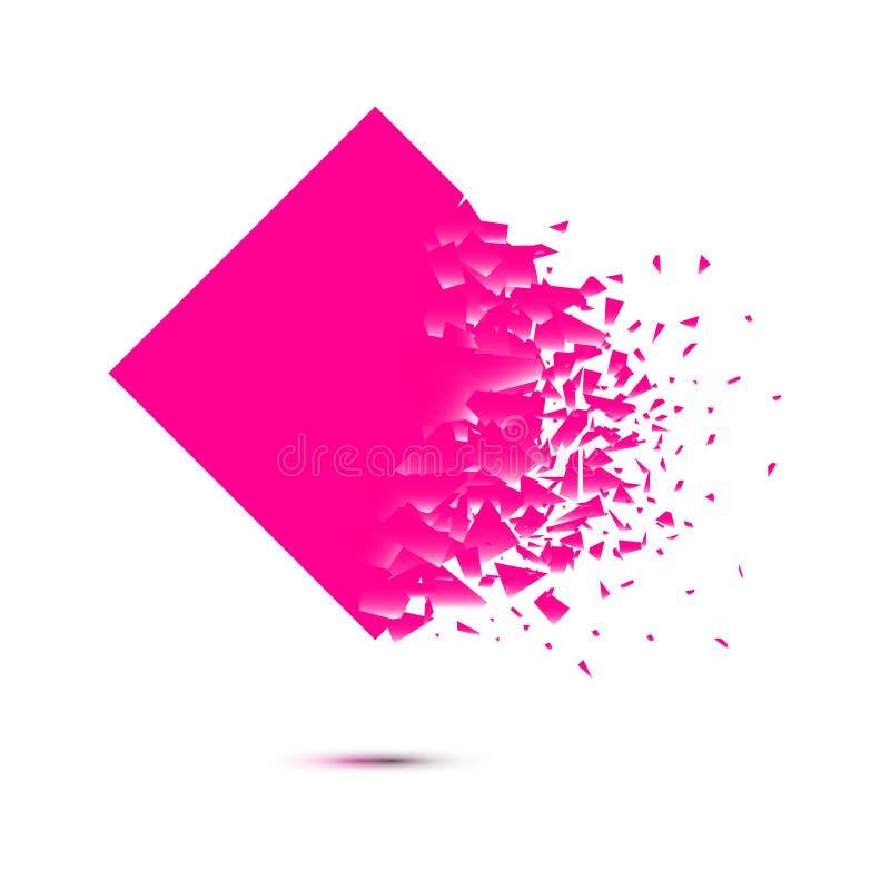 Vector square explosion design on white background vector illustration