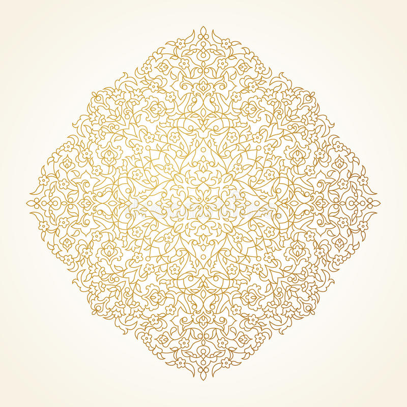 Vector square pattern in Eastern style. stock illustration