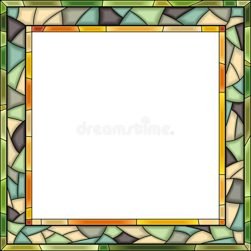 Free Vector Stained-glass Window Frame For Photography. Royalty Free Stock Image - 28957416