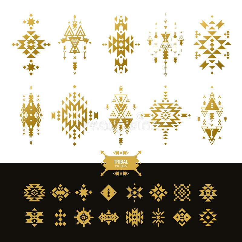 Vector Stammenelementen gouden kleuren stock illustratie