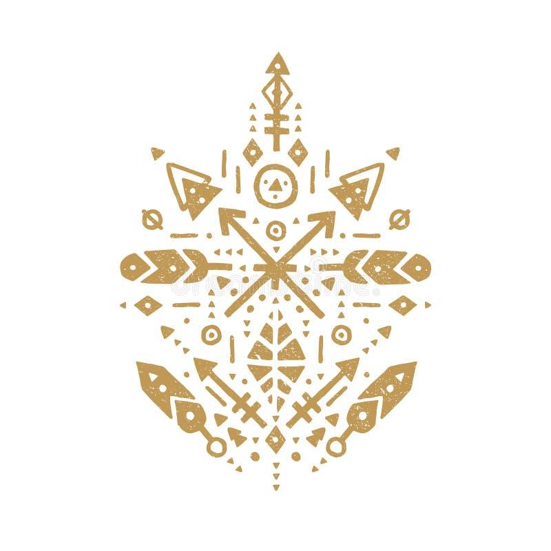 Vector stammenpatronen royalty-vrije illustratie