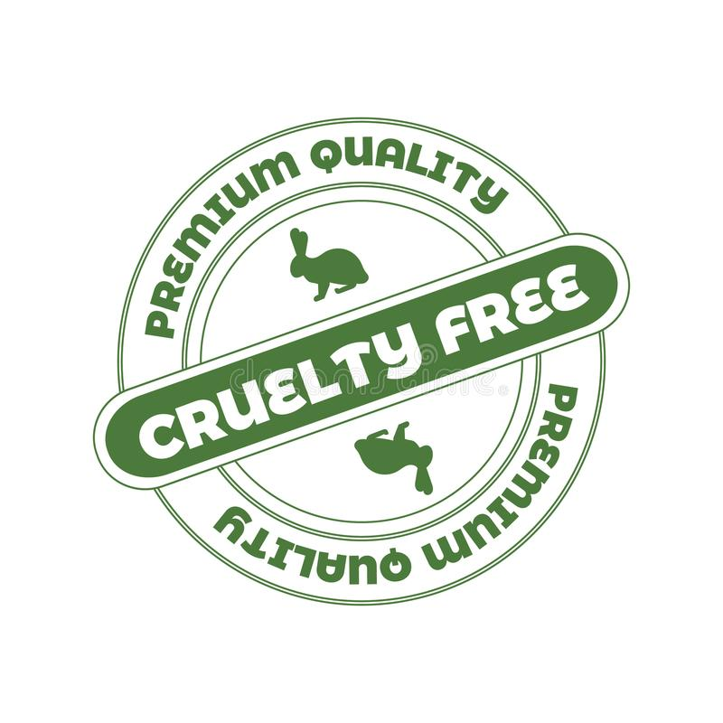 Vector Stamp: Cruelty Free, Not Tested on Animals Sign. vector illustration