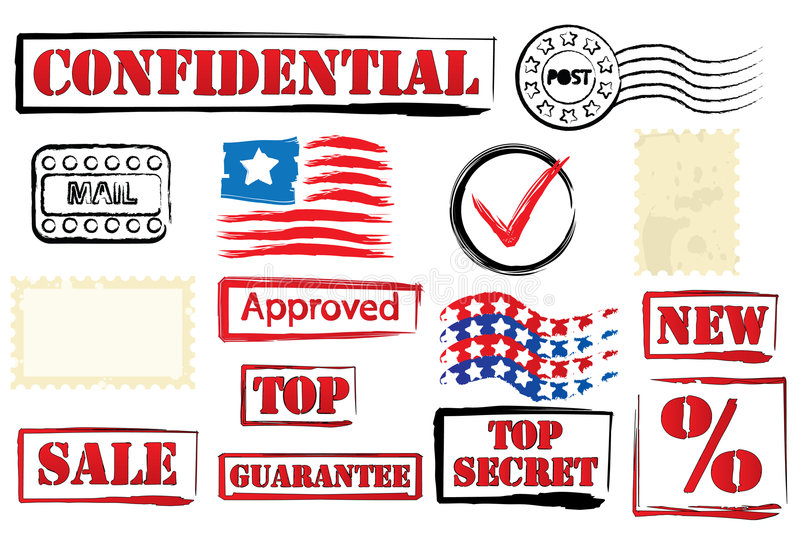 Vector Stamp Set royalty free stock image