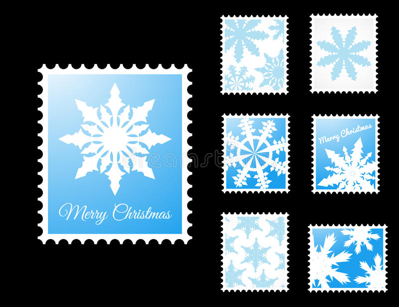 Download Vector Stamps With Snowflakes Stock Illustration - Image: 27447679