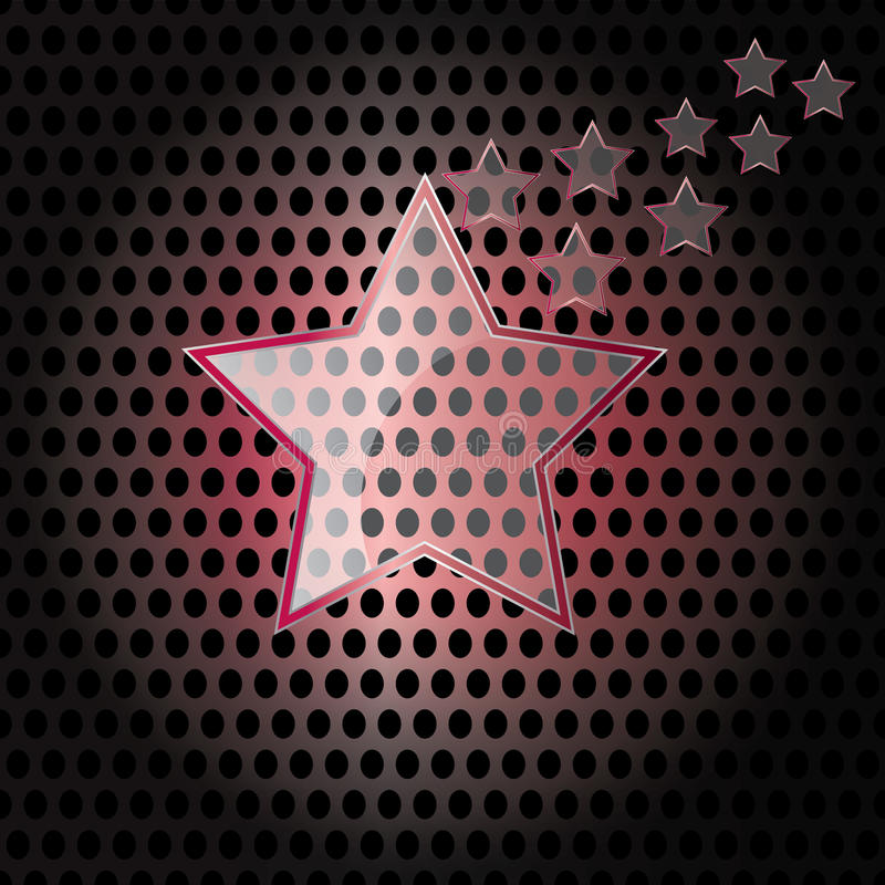 Download Vector Star Glass With Red Frame On Metal Background Stock Vector - Illustration of metal, banner: 24506056
