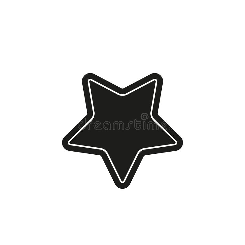 Vector star symbol, rating or award shape, success icon. Flat pictogram - simple icon royalty free illustration