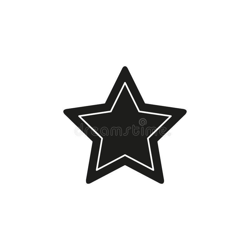 Vector star symbol, rating or award shape, success icon. Flat pictogram - simple icon stock illustration