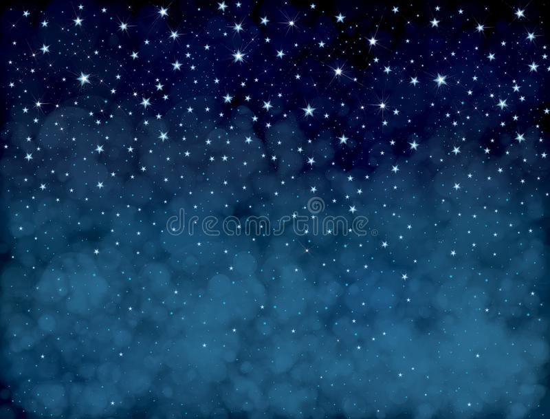 Vector starry sky. royalty free illustration