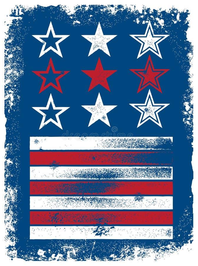 Download Vector Stars & Stripes Elements Stock Vector - Illustration of vintage, poster: 19447541