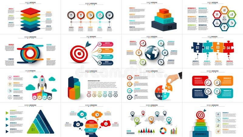 Vector startinfographics, diagramgrafiek, grafiek en presentatie vector illustratie