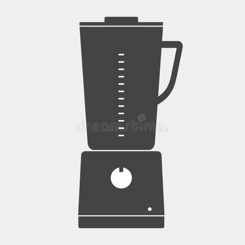 Vector stationäre Mischmaschine der Ikonenküche für das Mischen und das Reiben von f vektor abbildung