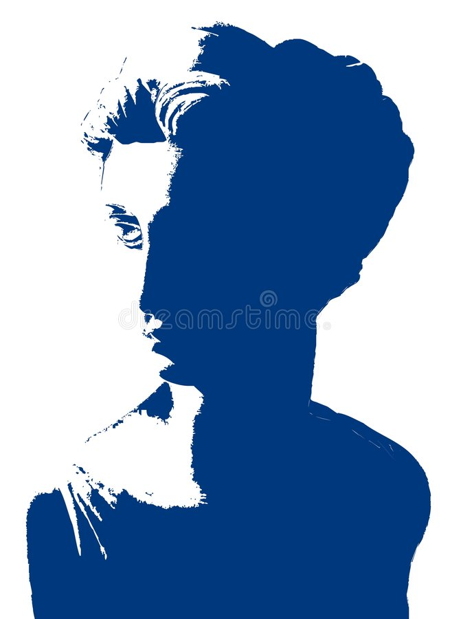 Vector Statuary. A stylized silhouette of a woman statuary vector illustration