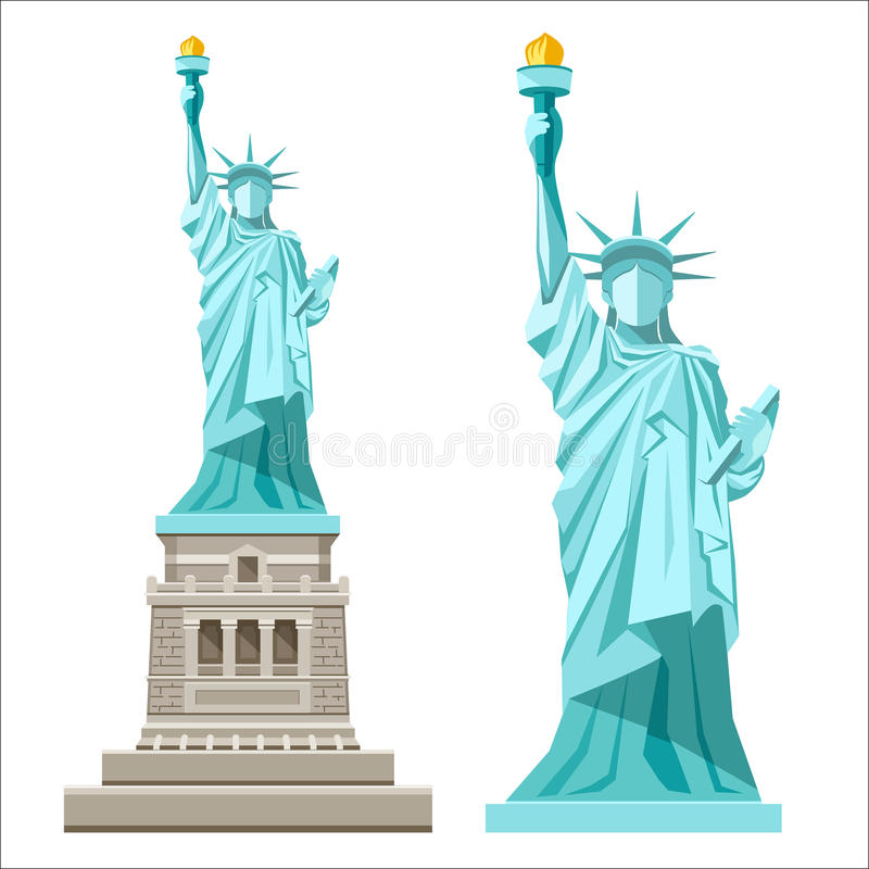 Vector statue of liberty design on a white background for Statue of liberty drawing template