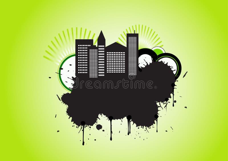 Vector stedelijk grungeontwerp stock illustratie