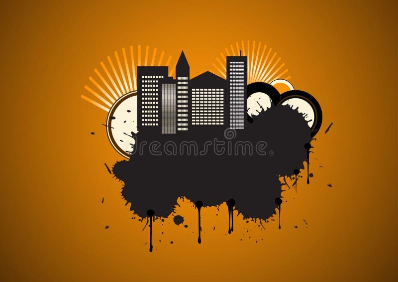 Vector stedelijk grungeontwerp vector illustratie