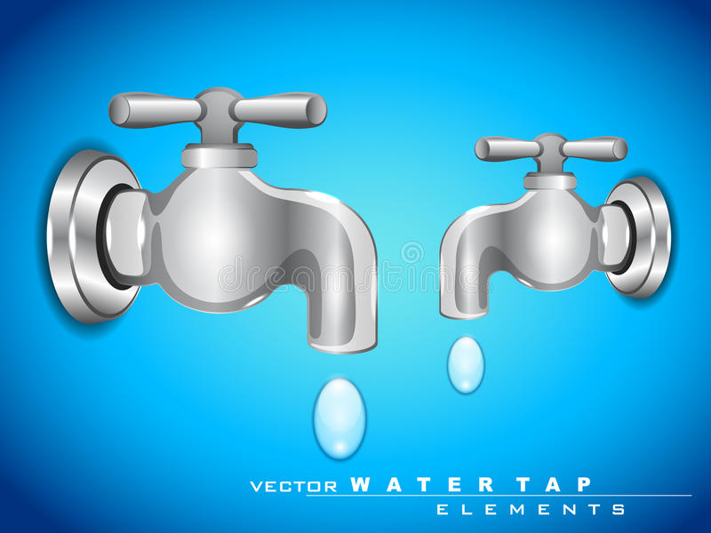 Download Vector steel water tap stock vector. Image of purity - 24488245
