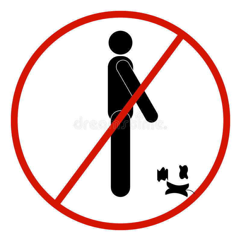Vector stick figure man, black and white, prohibited, forbidden stock illustration