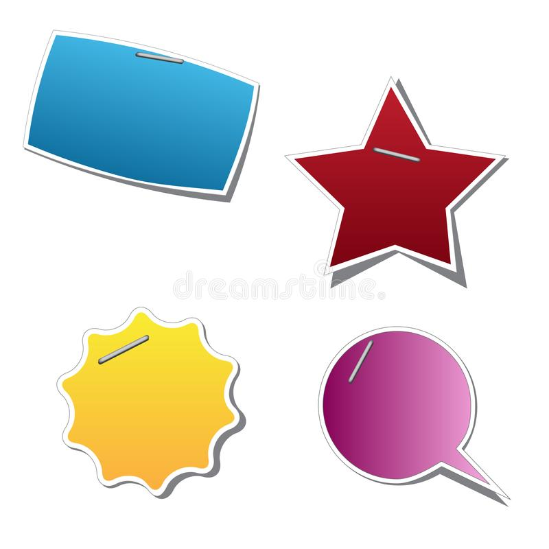 Download Vector sticker stock vector. Illustration of object, message - 19649319