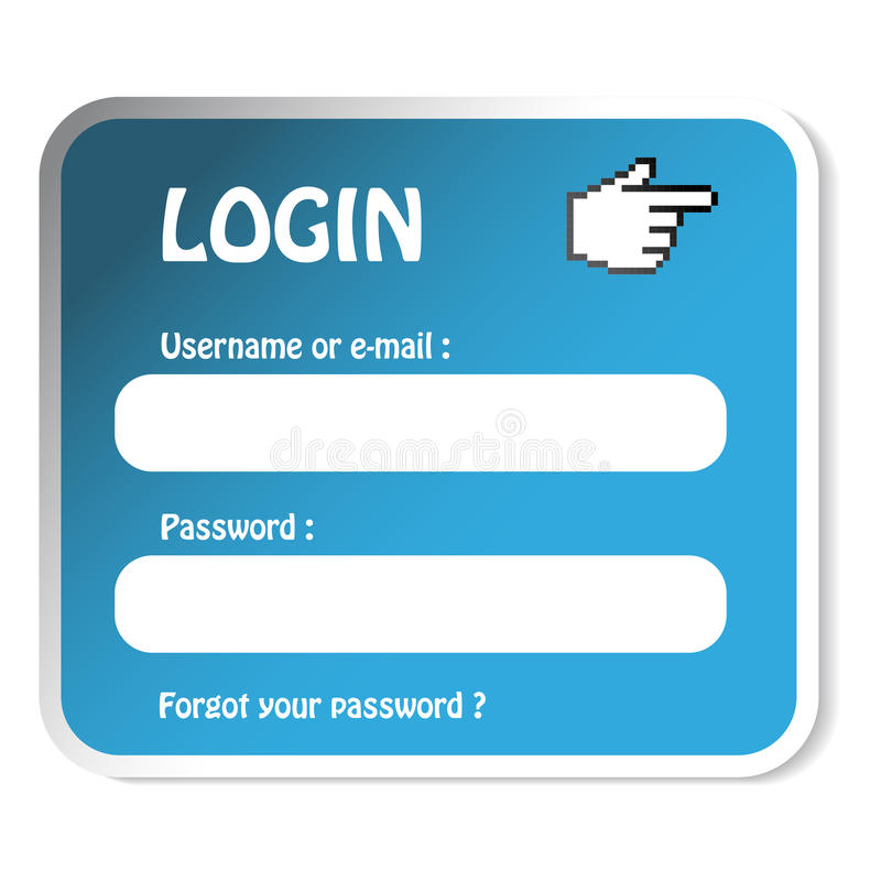 Download Vector Sticker - Login Form Stock Vector - Image: 17038475