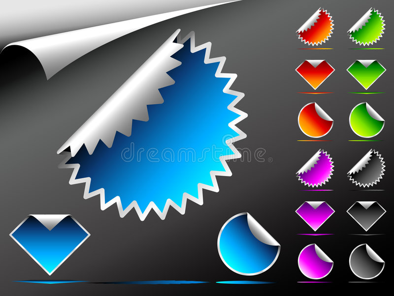 Download Vector Stickers stock vector. Illustration of design, sign - 7670046