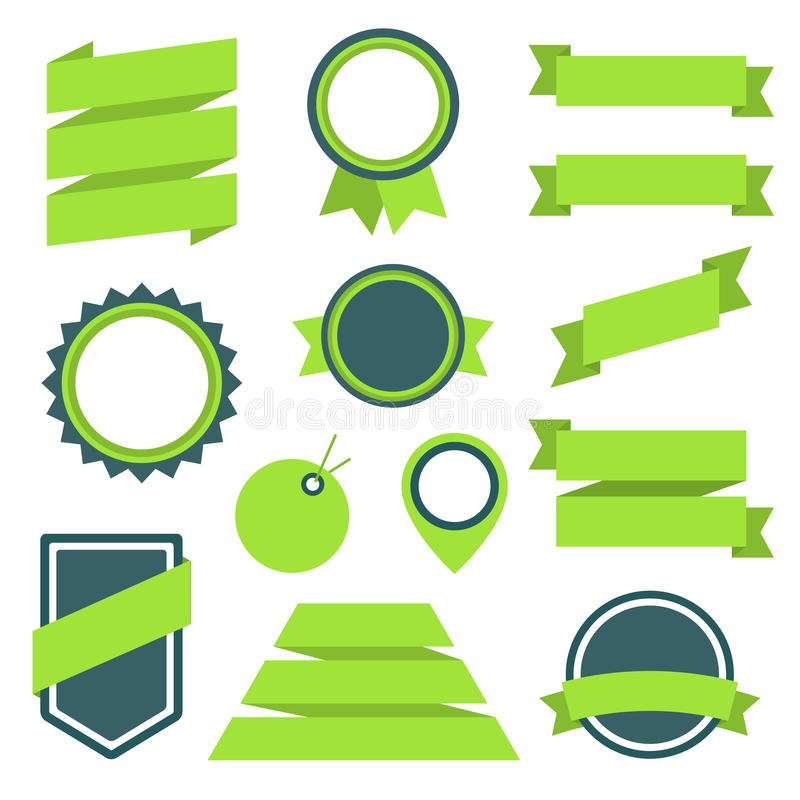 Free Vector Stickers And Badges Set 11. Flat Style. Stock Photos - 39791813