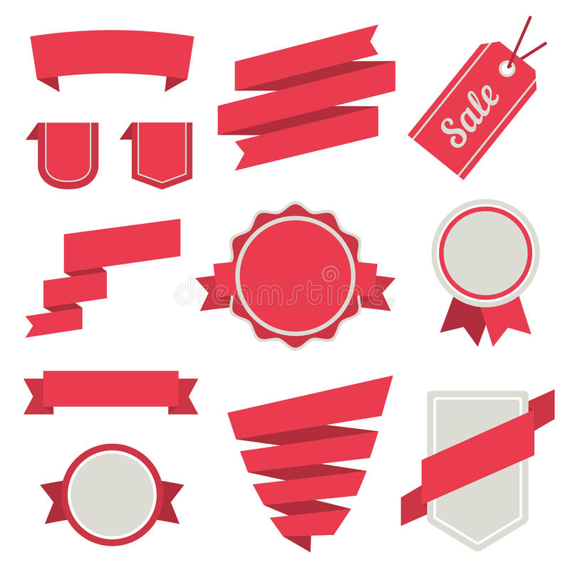 Free Vector Stickers And Badges Set 3. Flat Style. Royalty Free Stock Photos - 36591388