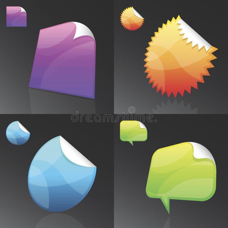 Download Vector Stickies stock vector. Image of sticker, banner - 12122771
