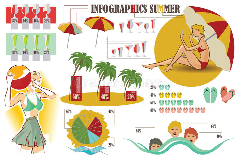 Vector stock infographics. Design elements on theme of vacation stock illustration