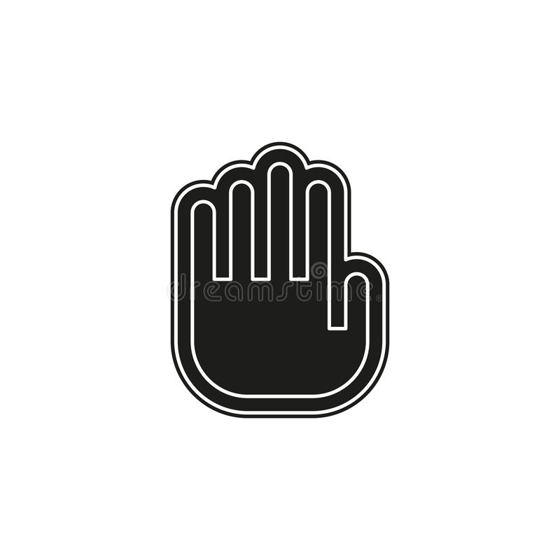vector stop sign - hand illustration symbol isolated - human silhouette stock illustration