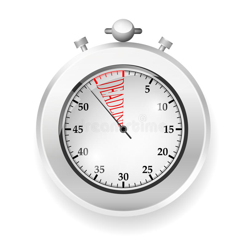 Vector stop watch stock photography