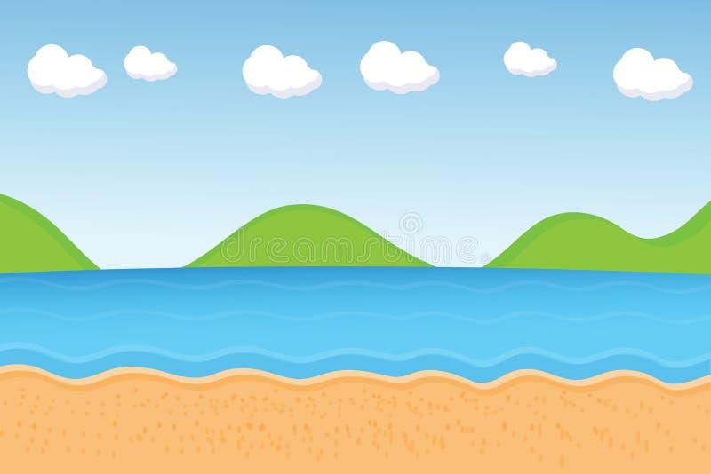 Vector: strandbeeldverhaal vector illustratie
