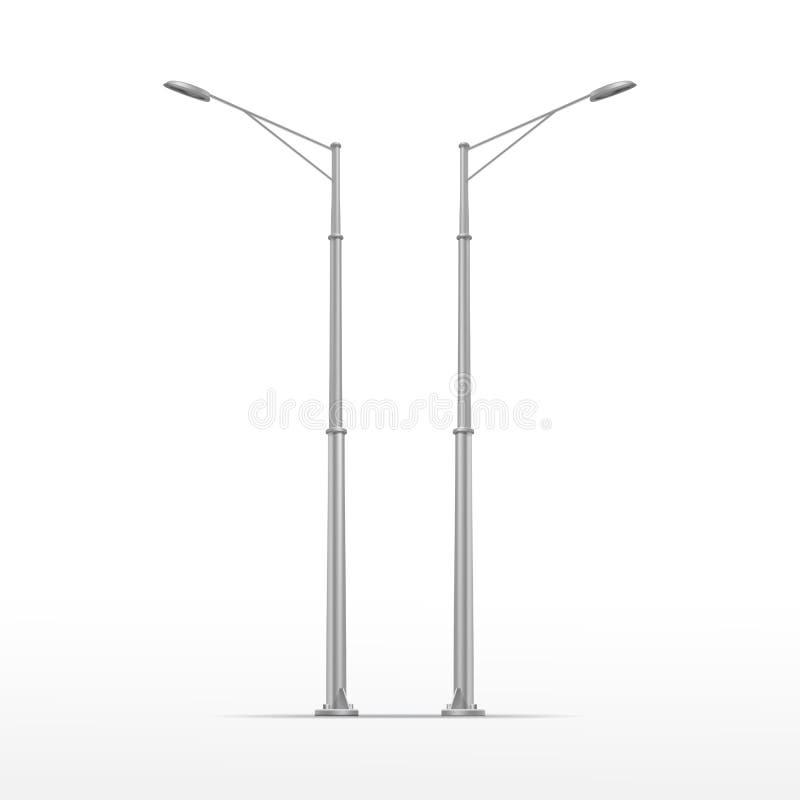 Vector Street Lamp Isolated on White Background stock illustration