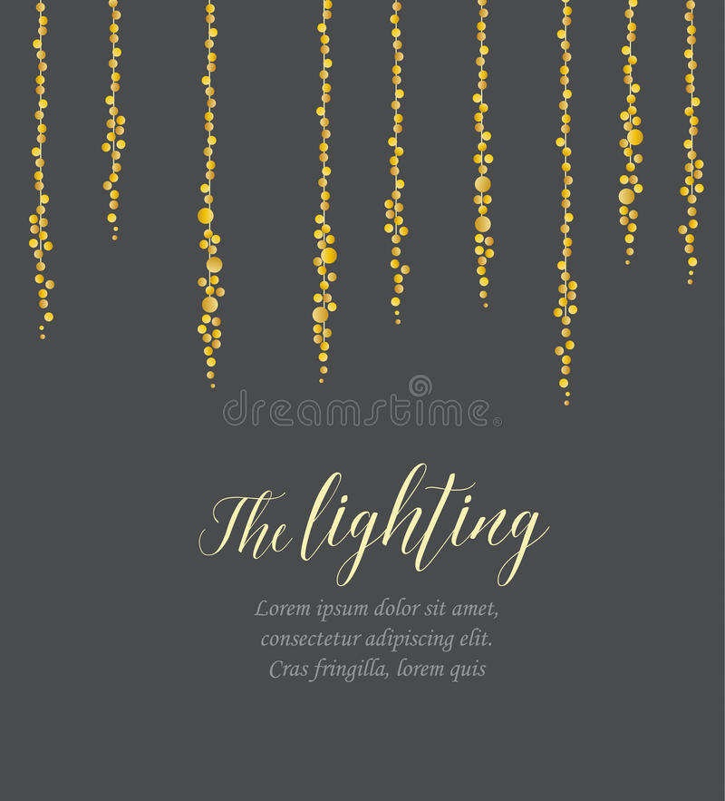 Vector string lights vector illustration