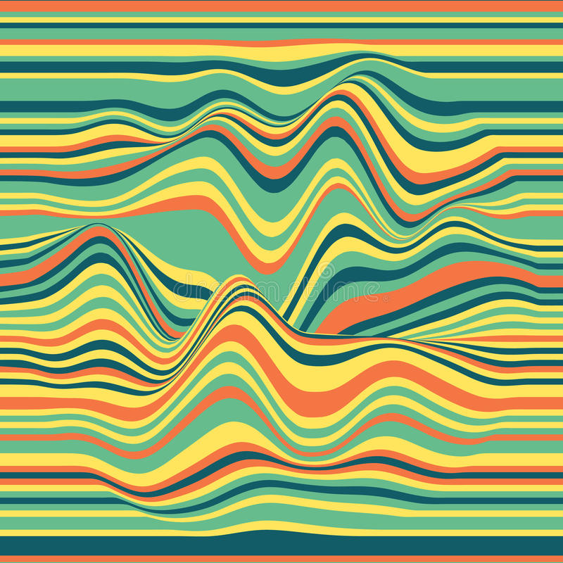 Free Vector Striped Background. Abstract Color Waves. Sound Wave Oscillation. Funky Curled Lines. Elegant Wavy Texture. Stock Photo - 91278120