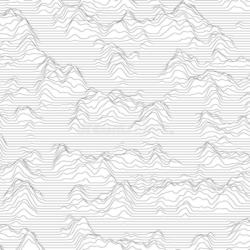 Free Vector Striped Background. Abstract Line Waves. Sound Wave Oscillation. Funky Curled Lines. Elegant Wavy Texture. Royalty Free Stock Photography - 91278297