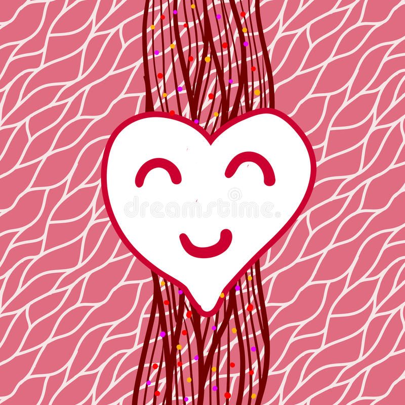 Download Vector Striped Background With Heart Stock Illustration - Image: 28648366